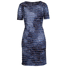Buy Betty Barclay Wave Effect Dress, Grey/Blue Online at johnlewis.com