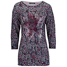 Buy Betty Barclay Aertex Effect Knit, Dark Red/Blue Online at johnlewis.com