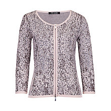 Buy Betty Barclay 3/4 Sleeve Lurex Cardigan, Grey/Beige Online at johnlewis.com