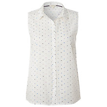 Buy White Stuff Always Sunny Heart Vest, White Online at johnlewis.com