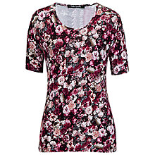 Buy Betty Barclay Rose Print Short Sleeve T-Shirt, Dark Pink/Rosé Online at johnlewis.com