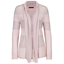 Buy Betty Barclay Shawl Collar Stripe Effect Cardigan, Zabaione Online at johnlewis.com