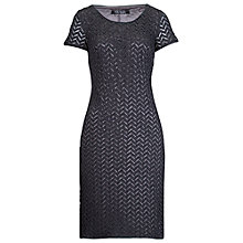 Buy Betty Barclay Lined Herringbone Effect Dress, Middle Grey Melange Online at johnlewis.com