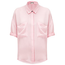 Buy Whistles Ella Silk Blouse, Pale Pink Online at johnlewis.com