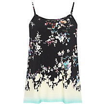 Buy Warehouse Dip Dye Border Print Cami Top, Multi Online at johnlewis.com