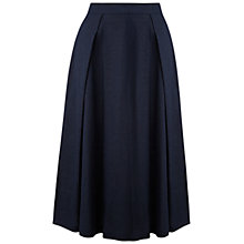 Buy Whistles Ivy Midi Skirt, Navy Online at johnlewis.com