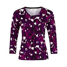 Buy Precis Petite Blurred Ikat Print Cardigan, Multi Dark Online at johnlewis.com