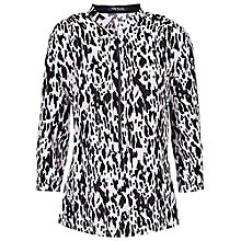 Buy Betty Barclay Dalmatian Print Zip Top, Black/Cream Online at johnlewis.com