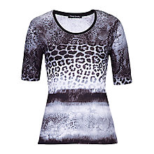 Buy Betty Barclay Multi Animal Print Top, Black/Cream Online at johnlewis.com