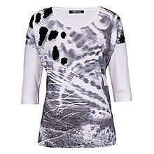 Buy Betty Barclay Abstract Animal Print Top, Black/Cream Online at johnlewis.com