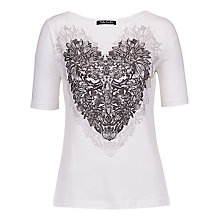 Buy Betty Barclay Heart Print T-Shirt, Off White Online at johnlewis.com