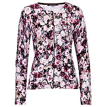 Buy Betty Barclay Rose Print Cardigan, Dark Pink/Rosé Online at johnlewis.com