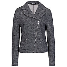Buy Betty Barclay Lurex Biker Jacket, Middle Grey Melange Online at johnlewis.com