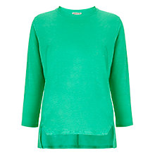 Buy Whistles Lauren Linen Top, Green Online at johnlewis.com