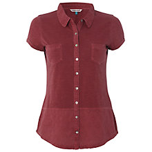 Buy White Stuff Short Sleeve Dorothea Shirt, Red Plum Online at johnlewis.com