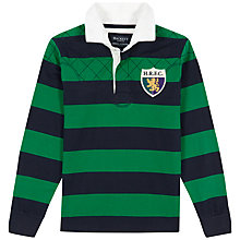Buy Hackett London Boys' Rugby Shirt, Navy/Green Online at johnlewis.com