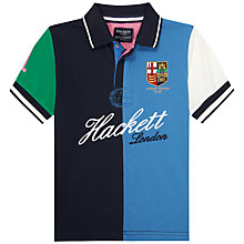 Buy Hackett London Boys' London Rowing Club Polo Shirt, Blue/Green Online at johnlewis.com
