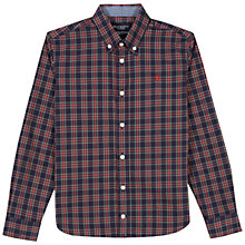 Buy Hackett London Boys' College Long Sleeve Check Shirt, Navy/Red Online at johnlewis.com