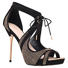 Buy Carvela Gwen Stiletto Sandals, Black Online at johnlewis.com