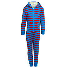 Buy John Lewis Boy Stripe Onesie, Red/Blue Online at johnlewis.com