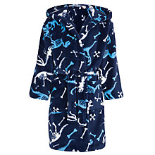 Buy John Lewis Boy Dino Robe, Navy Online at johnlewis.com