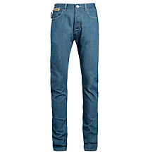 Buy Armani Jeans Regular Slim Fit Selvedge Jeans, Petrol Blue Online at johnlewis.com