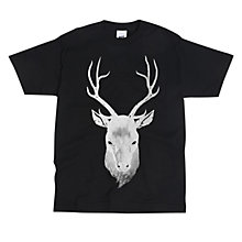 Buy Secret Store Stag Print T-Shirt, Black Online at johnlewis.com