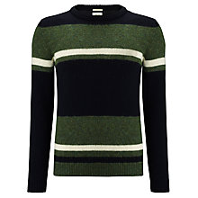 Buy Bellerose Nanam Paola Striped Jumper, Black / Green Online at johnlewis.com