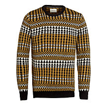 Buy Bellerose Golova Crew Neck Jumper, Navy/Mustard Online at johnlewis.com