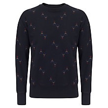Buy Bellerose Heavy Fleece Jumper, Navy Online at johnlewis.com