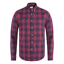 Buy Bellerose Gingham Dotted Long Sleeve Shirt, Navy/Maroon Online at johnlewis.com