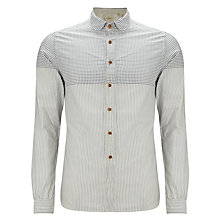 Buy Bellerose Yanaba Stripe Long Sleeve Shirt, Grey Online at johnlewis.com