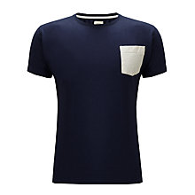Buy Bellerose City Basic Slim Fit Contrast Pocket T-Shirt, Navy Online at johnlewis.com