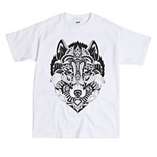 Buy Secret Store Wolf Exclusive Print T-Shirt, White Online at johnlewis.com