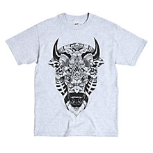 Buy SCRT Bison Print T-Shirt, Grey Online at johnlewis.com