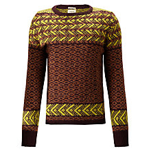 Buy Bellerose Nancay Paola Patterned Jumper, Brown / Yellow Online at johnlewis.com