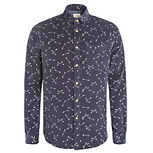 Buy Bellerose Arrow Print Long Sleeve Shirt, Navy Online at johnlewis.com