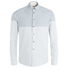 Buy Bellerose Manet Stripe Long Sleeve Shirt, Light Blue Online at johnlewis.com