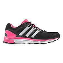 Buy Adidas Nova Stability Women's Running Shoes, Black/White/Pink Online at johnlewis.com