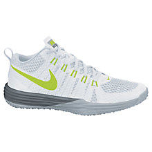 Buy Nike Lunar 1 Men's Running Shoes, White/Wolf Grey Online at johnlewis.com