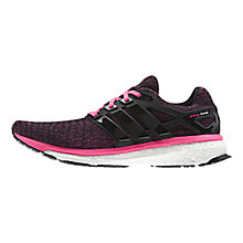 Buy Adidas Energy Boost Reveal Women's Running Shoes, Brown/Green Online at johnlewis.com