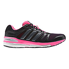 Buy Adidas Supernova Sequence 7 Women's Running Shoes, Black/Grey/Pink Online at johnlewis.com