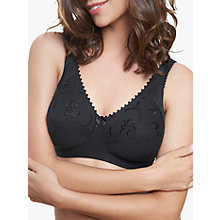 Buy Royce Grace 513 Cotton Rich Non-Wired Bra, Black Online at johnlewis.com