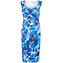Buy Planet Printed Sateen Dress, Multi Blue Online at johnlewis.com