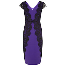 Buy Planet Lace Trim Dress, Iris Online at johnlewis.com