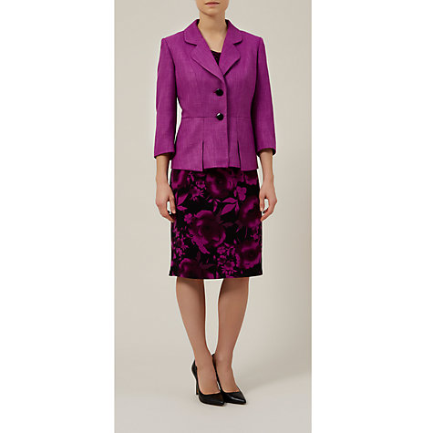 Buy Precis Petite Textured Jacket, Berry Online at johnlewis.com
