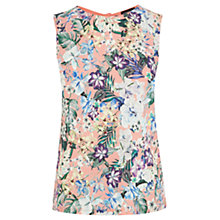 Buy Warehouse Tropical Floral Print Shell Top, Coral Online at johnlewis.com
