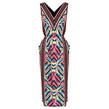 Buy Warehouse Summer Aztec Midi Dress, Multi Online at johnlewis.com