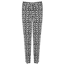 Buy Warehouse Scratchy Print Trousers, Black Pattern Online at johnlewis.com