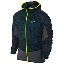 Buy Nike Trail Kiger Full-Zip Running Jacket, Space Blue/Anthracite/Volt Online at johnlewis.com